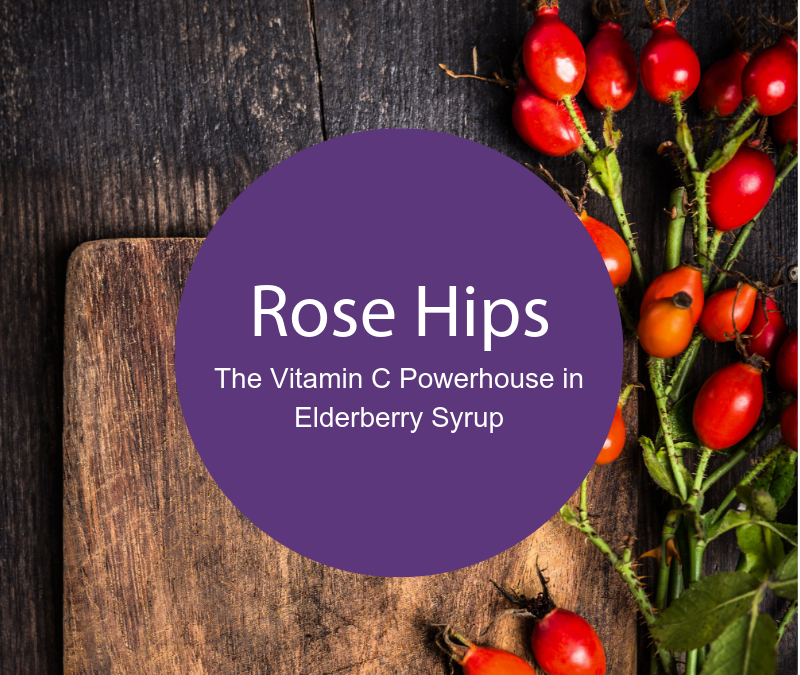 Rosehips: The Vitamin C Powerhouse in Elderberry Syrup Recipes
